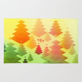 Forrest sunrise Rug