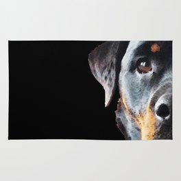Rottie Love - Rottweiler Art By Sharon Cummings Rug