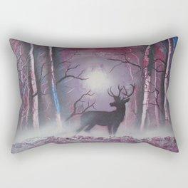 Deer In A Purple Forest Rectangular Pillow