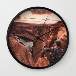 on top of the rock Wall Clock
