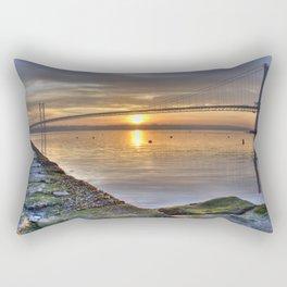 The Forth Road Bridge Sun Set Rectangular Pillow