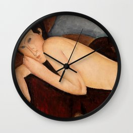 """Amedeo Modigliani """"Reclining Nude from the Back (Nu couché de dos)"""" Wall Clock"""