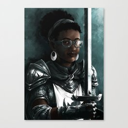Knight two Canvas Print