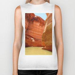 Antelope Canyon On Lake Powell Biker Tank