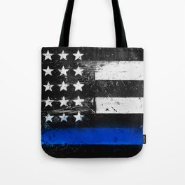 Thin Blue Line - Back the Blue Tote Bag