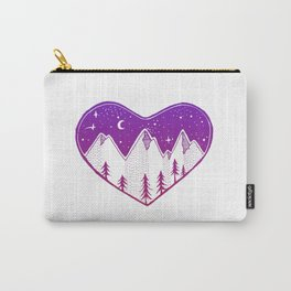 Heart In The Mountains - Darker Palette Carry-All Pouch