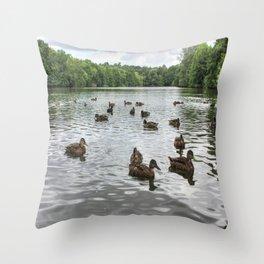 Ducks on the Lake Throw Pillow