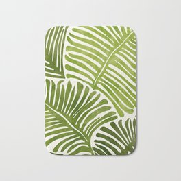 Summer Fern / Simple Modern Watercolor Bath Mat