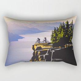 Retro travel BC poster Rectangular Pillow