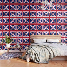 red white and blue trendy london fashion UK flag union jack Wallpaper