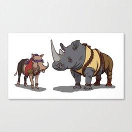 Warthog and Rhino Animal Cosplay Canvas Print
