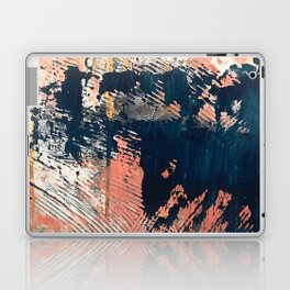 Hidden Gem [1]: an abstract mixed media piece in pink, blue, gold and white Laptop & iPad Skin