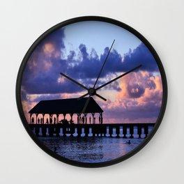 Hanalei Pier Wall Clock