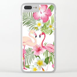 Pink Flamingo Clear iPhone Case