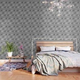 Origami Unicorn Grey Wallpaper