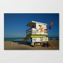 Miami Beach Lifeguard Huts (2 of 4) Canvas Print