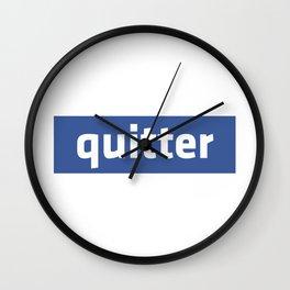 quitter Wall Clock