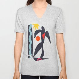 inspired to Matisse (black) Unisex V-Neck