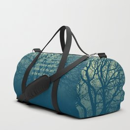 Tree of Character VINTAGE BLUE / Deep thoughts by Abe Lincoln Duffle Bag