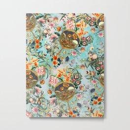 Floral and Lobster Metal Print