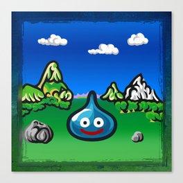 A Slime Draws Near! Canvas Print