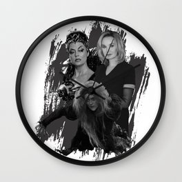 The Witches - Susan Sarandon, Jessica Lange and Meryl Streep Wall Clock
