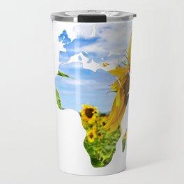 World of Sunflowers Travel Mug