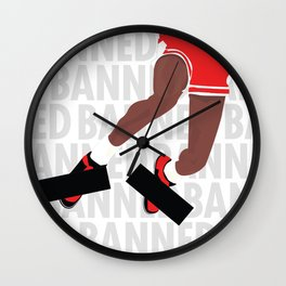 Banned (White) Wall Clock