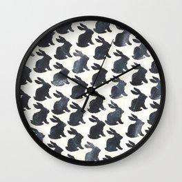 Rabbit Chalkboard Pattern by Robayre Wall Clock