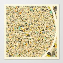 St Louis Map Canvas Print