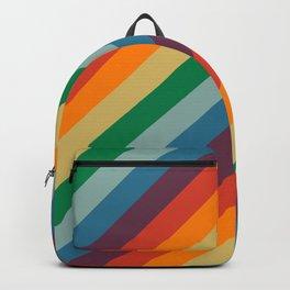 Retro Rainbow Stripes Backpack