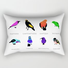 Birds react to the state of the world Rectangular Pillow