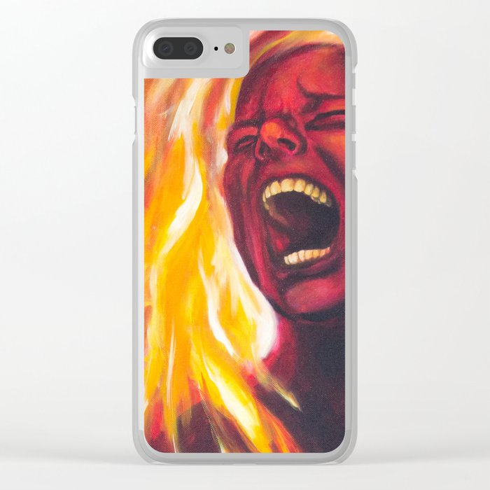 Pyrophobia Clear iPhone Case