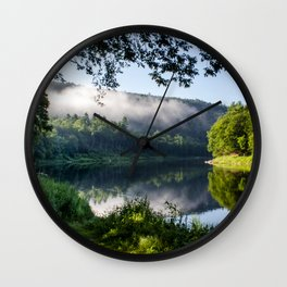The River's Reflection Wall Clock