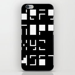 Alphanumerique iPhone Skin