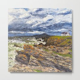 Wind swept sea Anglesey Gromlech Metal Print