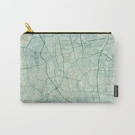 Jakarta Map Blue Vintage Carry-All Pouch