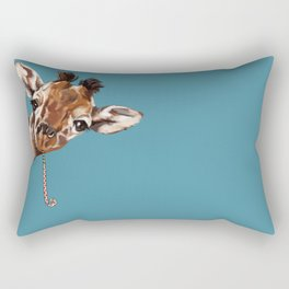 Sneaky Giraffe Rectangular Pillow