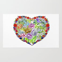 flowers in the heart ( https://society6.com/totalflora/collection ) Rug