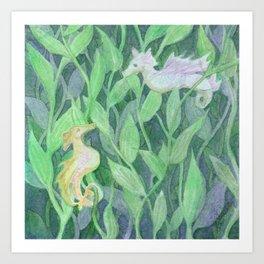 Sea Dragons Art Print
