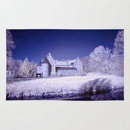 Castle of Herten in infrared Rug