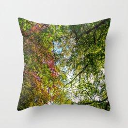 Tree Leafs. Throw Pillow