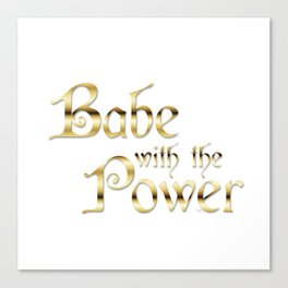 Labyrinth Babe With The Power (white bg) Canvas Print