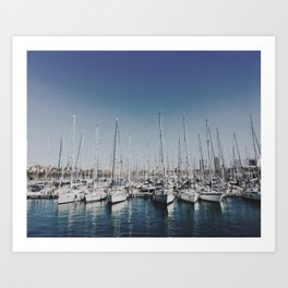Barcelona Harbor Art Print