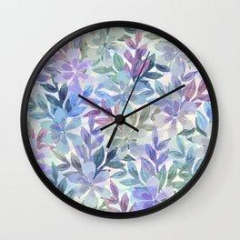 watercolor Botanical garden Wall Clock