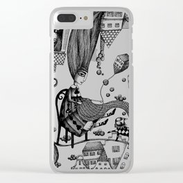 Falling Up Clear iPhone Case