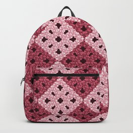 crochet with pink rhombs pattern Backpack
