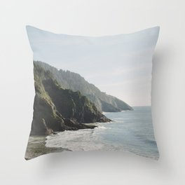 Cape Perpetua - Oregon Coastline - Fine Art Travel Photography Throw Pillow