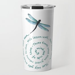 Witches rule of Three and dragonfly Travel Mug