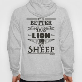 One Day as a Lion Hoody